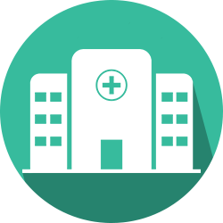 Opioid hospitalization icon